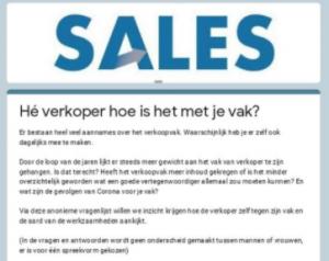 enquête verkoop